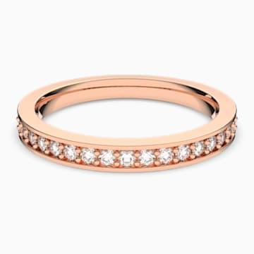 Inel Rare, alb, placat în nuanță aur roz - Swarovski, 5032900