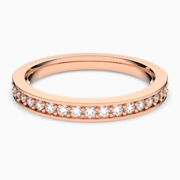 Rare 戒指, 白色, 鍍玫瑰金色調 - Swarovski, 5032901