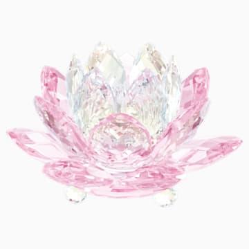 Waterlily Candleholder , Pink - Swarovski, 5066010