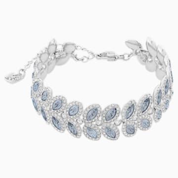 Baron 手鏈, 藍色, 鍍白金色 - Swarovski, 5074352
