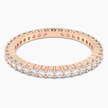 Vittore Ring, White, Rose-gold tone plated - Swarovski, 5095328