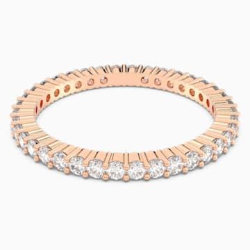 Vittore 戒指, 白色, 鍍玫瑰金色調 - Swarovski, 5095329