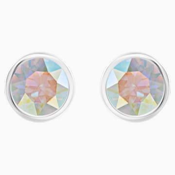 Boucles d'oreilles Solitaire, multicolore, Métal rhodié - Swarovski, 5101343