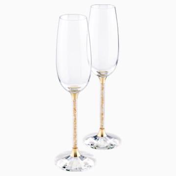 Crystalline Şampanya Kadehleri, Altın Rengi (2'li Set) - Swarovski, 5102143