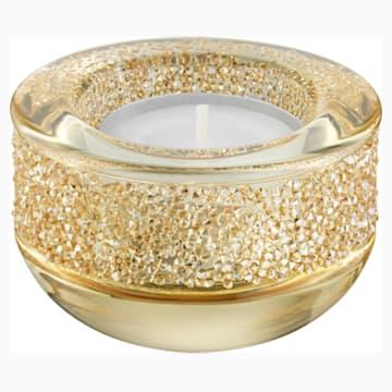 Shimmer Tea Light Holder , Gold Tone - Swarovski, 5108877