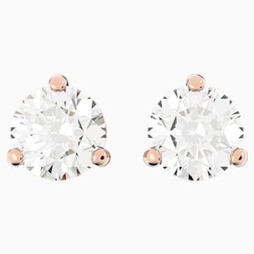 Solitaire Серьги, Белый Кристалл, Покрытие оттенка розового золота - Swarovski, 5112156