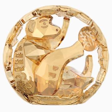 Chinese Zodiac - Monkey, Gold Tone - Swarovski, 5127853