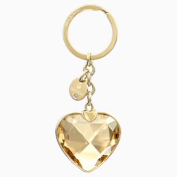 New Heart Bag Charm, Golden, Gold plating - Swarovski, 5127860