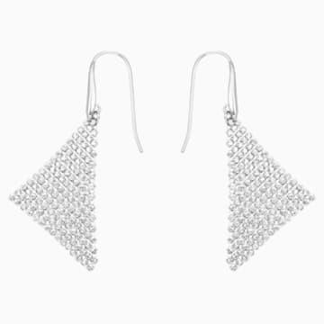 Boucles d'oreilles Fit, blanc, Métal rhodié - Swarovski, 5143068