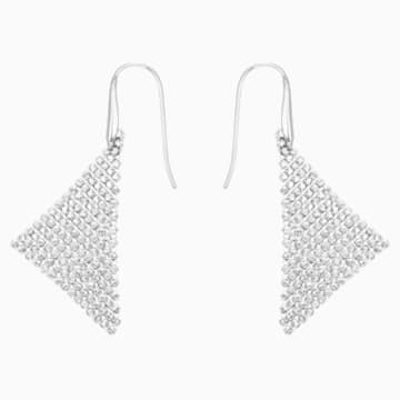 Kolczyki sztyftowe Fit, białe, powlekane rodem - Swarovski, 5143068