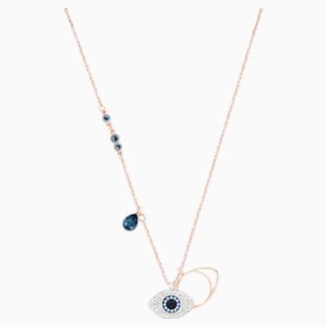 Swarovski Symbolic Evil Eye 펜던트, 블루, 믹스메탈 피니시 - Swarovski, 5172560