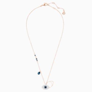 Swarovski Symbolic Evil Eye 鏈墜, 藍色, 多種金屬潤飾 - Swarovski, 5172560