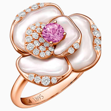 18K RG Geranium Ring E - Swarovski, 5182458