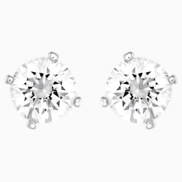Attract Ohrringe, weiss, Rhodiniert - Swarovski, 5183618