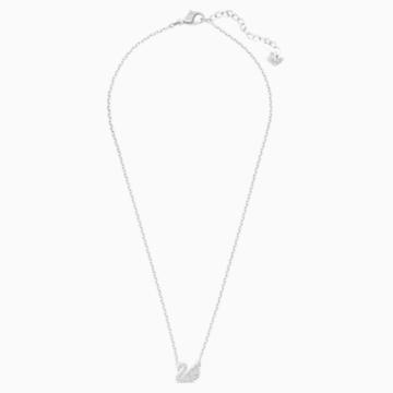 Swan 链坠, 白色, 镀铑 - Swarovski, 5187404