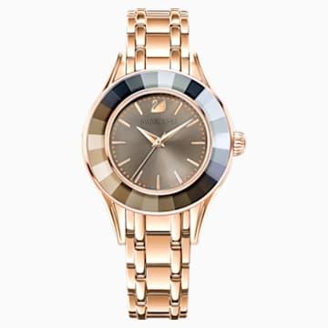 Alegria Uhr, Metallarmband, grau, Rosé vergoldetes PVD-Finish - Swarovski, 5188842