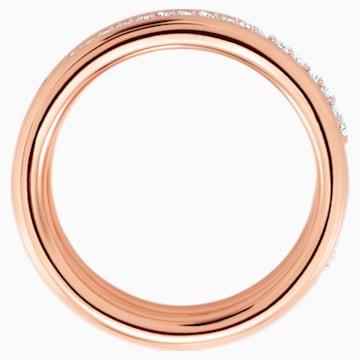 Exact Ring, White, Rose-gold tone plated - Swarovski, 5194458