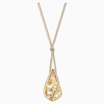Energic Pendant, Golden, Mixed metal finish - Swarovski, 5195924