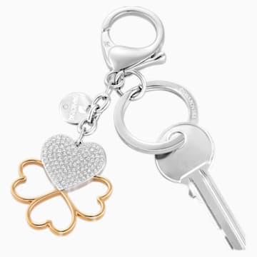 Talisman pentru geantă Cupid, alb, placare mixtă - Swarovski, 5201645