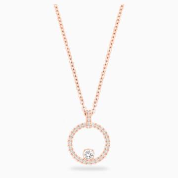 Creativity Circle 链坠, 白色, 镀玫瑰金色调 - Swarovski, 5202446