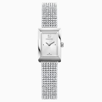 Memories Uhr, Crystal Mesh Armband, weiss, Edelstahl - Swarovski, 5209187