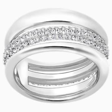 Exact Ring, weiss, Rhodiniert - Swarovski, 5210668