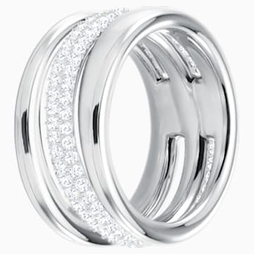 Anello Exact, bianco, Placcatura rodio - Swarovski, 5210668
