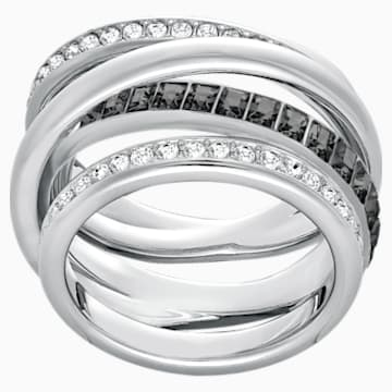 Dynamic Ring, Gray, Rhodium plated - Swarovski, 5221434