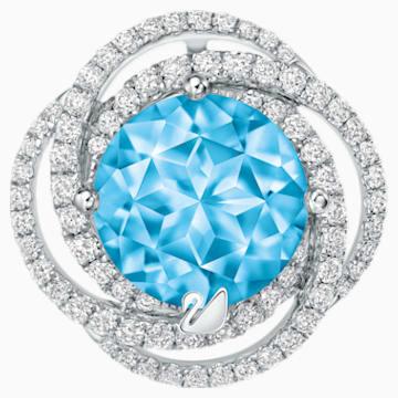 爱之涟漪18K金粉蓝托帕石钻石链坠 - Swarovski, 5229527