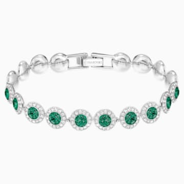 Bracelet Angelic, vert, Métal rhodié - Swarovski, 5237769