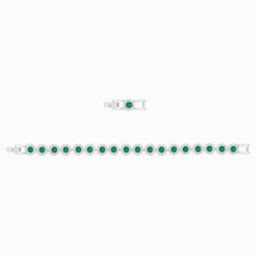 Pulsera Angelic, verde, Baño de Rodio - Swarovski, 5237769