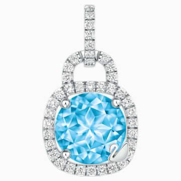 同心锁18K金粉蓝托帕石钻石链坠 - Swarovski, 5250002