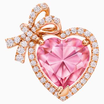 怦然心动18K玫瑰金粉紅托帕石 (热熔) 钻石链坠 - Swarovski, 5250015