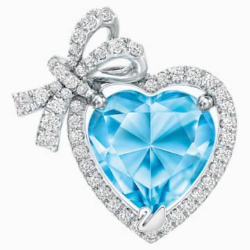 怦然心动18K金粉蓝托帕石钻石链坠 - Swarovski, 5251157