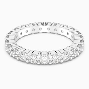 Vittore XL gyűrű, fehér, ródium bevonattal - Swarovski, 5257479