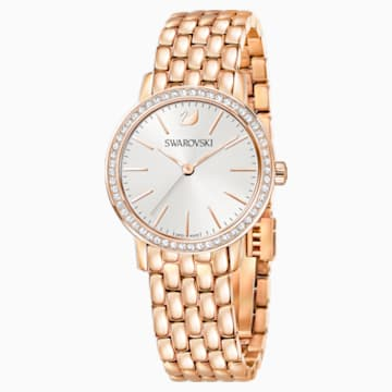 Graceful Watch, Metal bracelet, Rose-gold tone PVD - Swarovski, 5261490