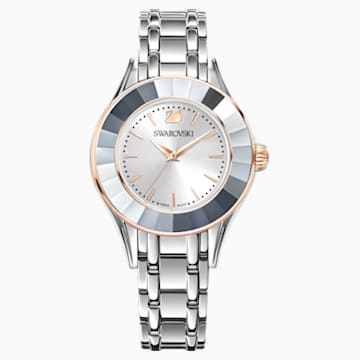 Alegria Watch, Metal bracelet, White, Stainless steel - Swarovski, 5261664