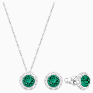 Angelic Ohrringe, grün, Rhodiniert - Swarovski, 5267105