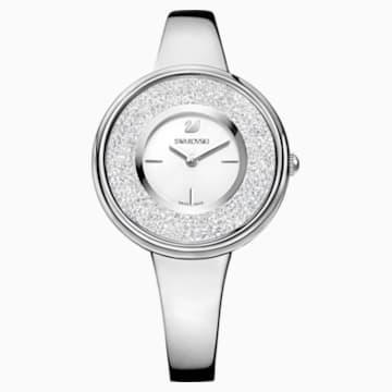 Hodinky Crystalline Pure s kovovým páskem, bílé, nerezová ocel - Swarovski, 5269256