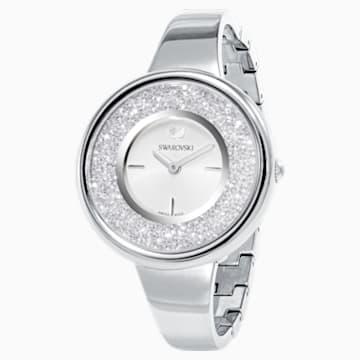 Zegarek Crystalline Pure, bransoleta z metalu, biały, stal nierdzewna - Swarovski, 5269256