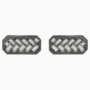 Govern 袖扣, 灰色, 混搭多種鍍層 - Swarovski, 5269310