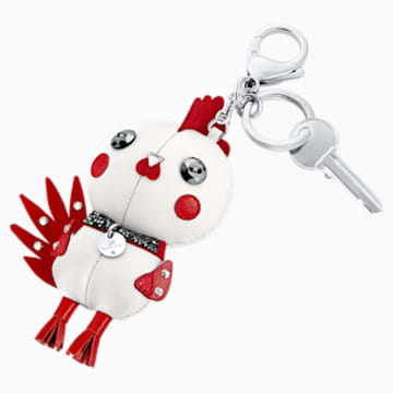Rooster Pascal Bag Charm, Multi-colored, Stainless steel - Swarovski, 5270975