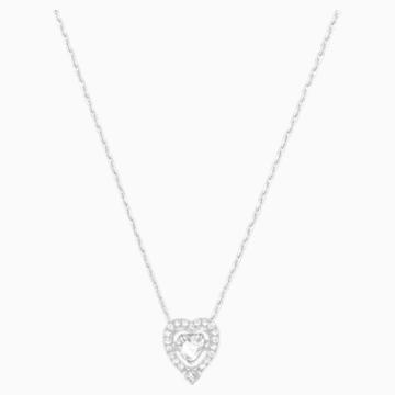 Collier Swarovski Sparkling Dance Heart, blanc, Métal rhodié - Swarovski, 5272365