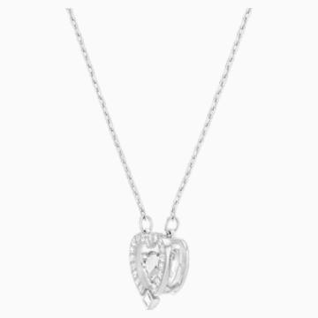 Swarovski Sparkling Dance szív alakú nyaklánc, fehér, ródium bevonattal - Swarovski, 5272365
