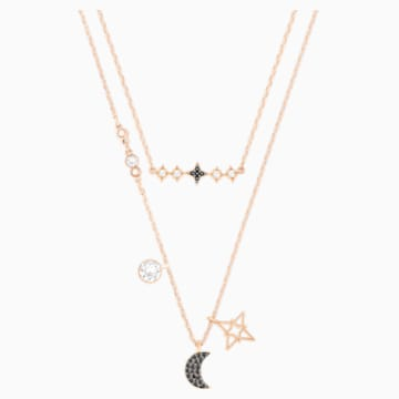 Set Collane Swarovski Symbolic Moon, multicolore, Mix di placcature - Swarovski, 5273290