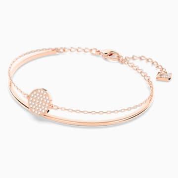 Ginger–armband, Wit, Roségoudkleurige toplaag - Swarovski, 5274892