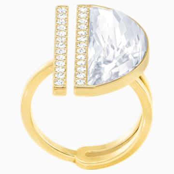 Glow Ring, White, Gold-tone plated - Swarovski, 5284082