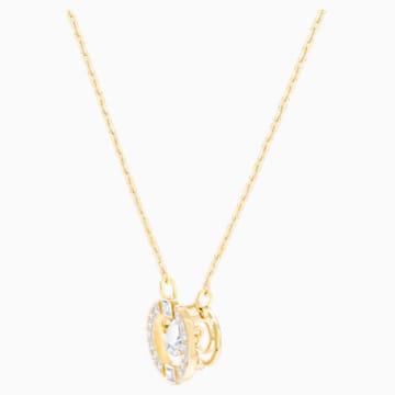 Naszyjnik Swarovski Sparkling Dance Round, biały, w odcieniu złota - Swarovski, 5284186