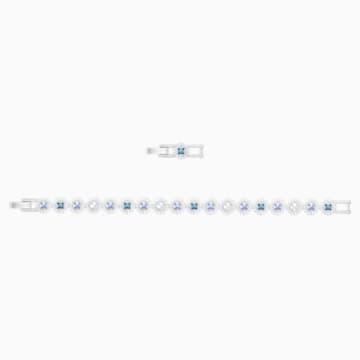 Angelic Square 手鏈, 藍色, 鍍白金色 - Swarovski, 5289514