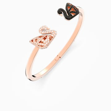 Bracelet-jonc Facet Swan, multicolore, Finition mix de métal - Swarovski, 5289535